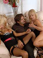 GUK pornstar threesome fucking with Tia Layne, Jane Bond and Tony James