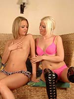 British pornstars Crystal Niles and Krystal Pink go girl-girl on each other before getting fucked by a couple of hard cocked guys