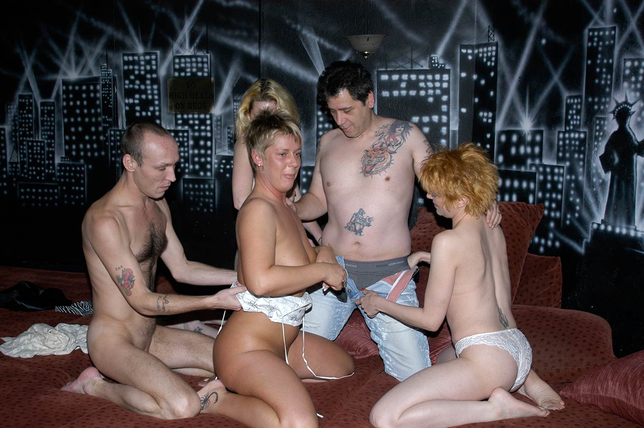 British swingers club sex
