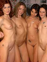 All girl lesbian strip, lick, kiss and dildo party!