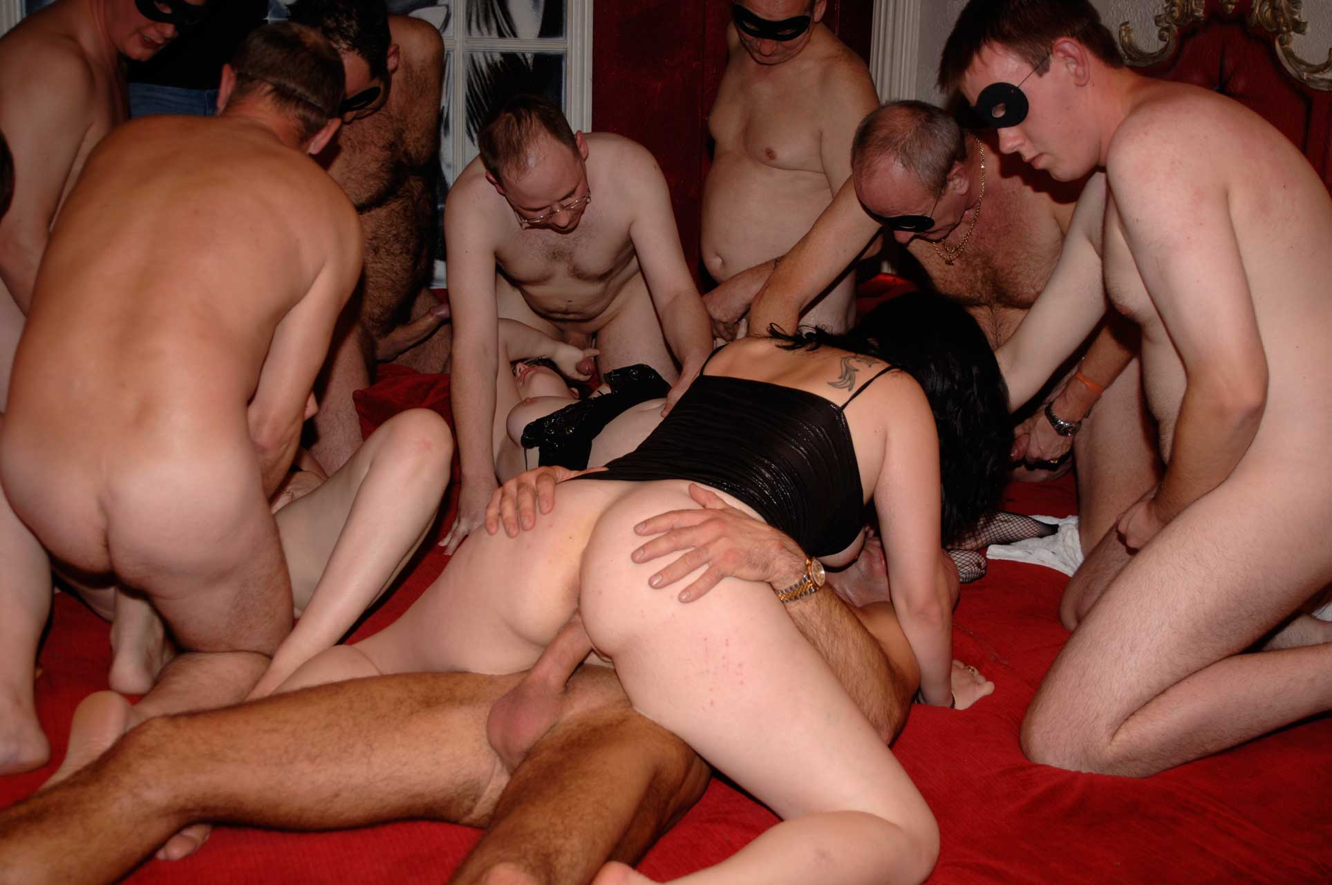 British amateur gangbang party with swingers