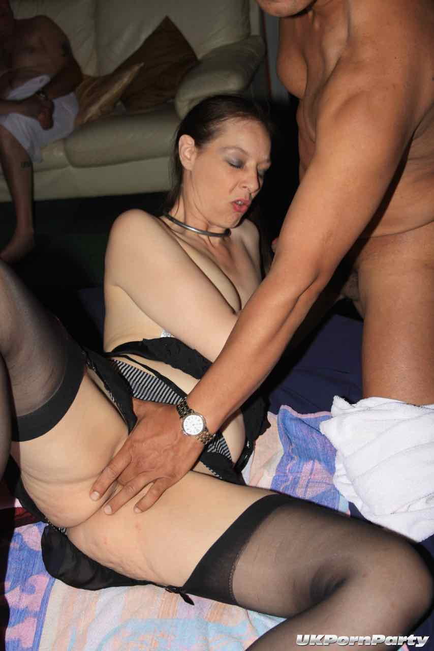 Uk amateur gangbang party in a swingers club 5