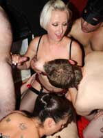 UK Porn Party gangbang with British Pornstar Tracey Venus