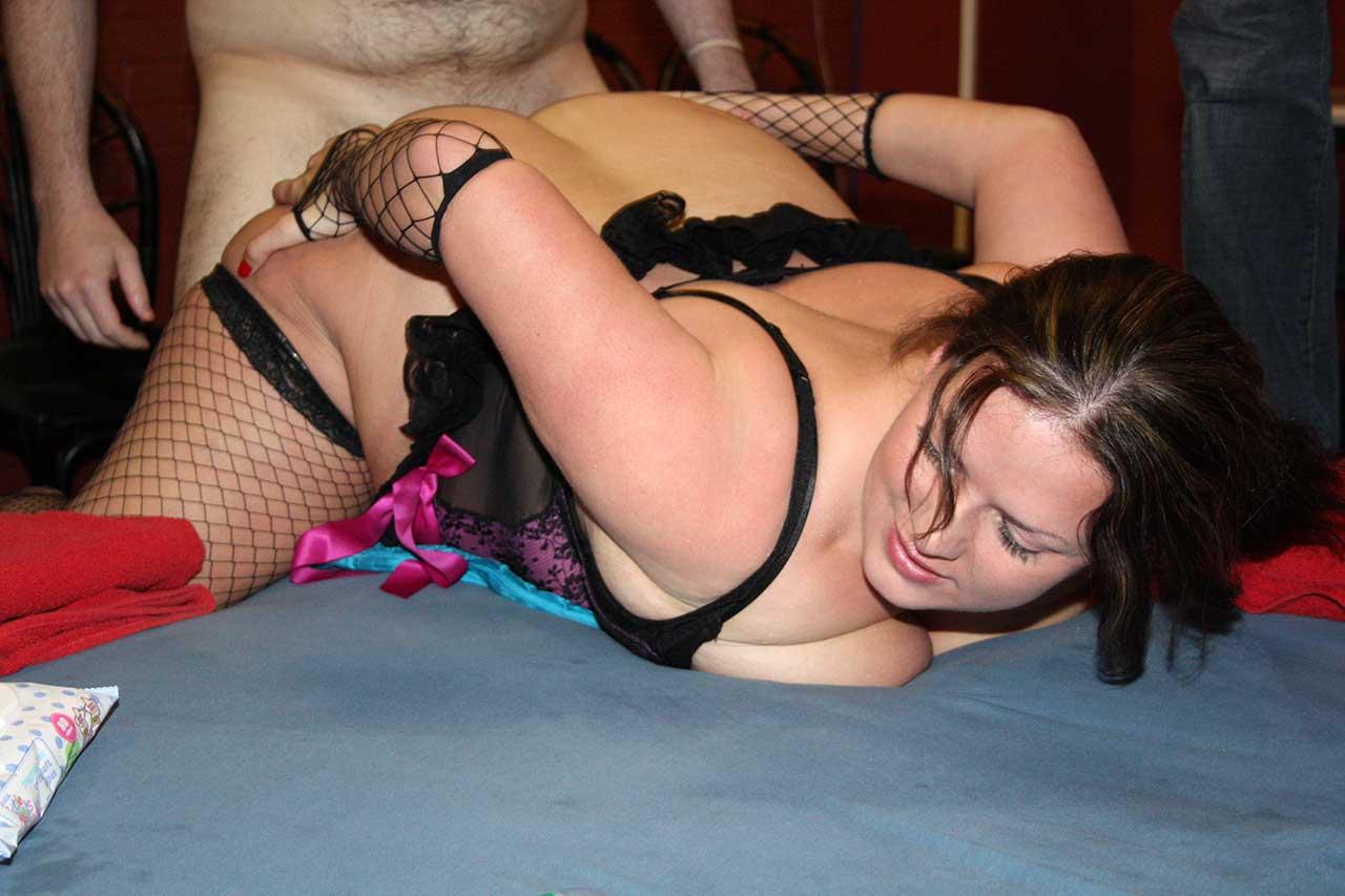 Body builder busty female